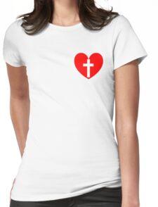 Christian Heart Womens Fitted T-Shirt