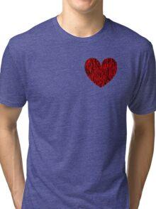 Fiber Heart Tri-blend T-Shirt