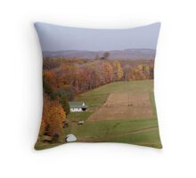 Farmland in Fall Throw Pillow