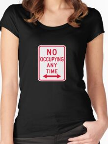 No Occupying Women's Fitted Scoop T-Shirt