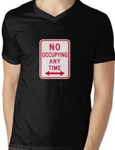 No Occupying Mens V-Neck T-Shirt