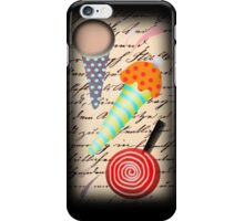 Ice cream typography iphone case iPhone Case/Skin