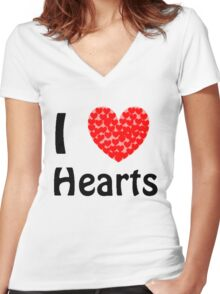 I <3 Hearts Women's Fitted V-Neck T-Shirt