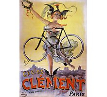 Cycles Clément 1898 Vintage Advertising Poster Photographic Print