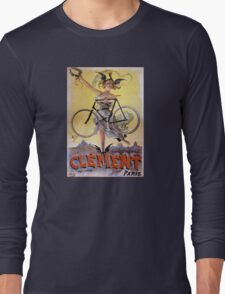 Cycles Clément 1898 Vintage Advertising Poster Long Sleeve T-Shirt