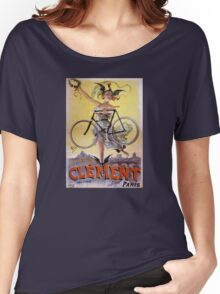 Cycles Clément 1898 Vintage Advertising Poster Women's Relaxed Fit T-Shirt