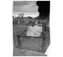 Broken Headstone Poster