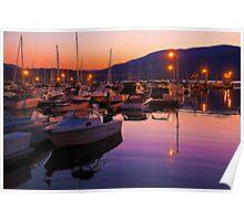 Canada. British Columbia. Kelowna. Lake Okanagan. Sunset. Poster