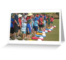 Eggciting - Exciting egg and spoon race - Kennedy, North Queensland, Australia Greeting Card