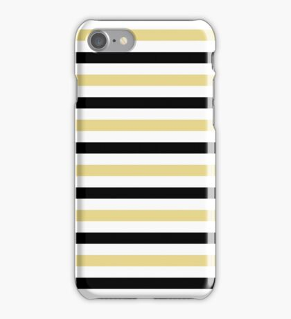 Trendy Yellow And Black Stripes Pattern iPhone Case/Skin