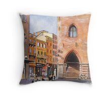 Piazza Maggiore, Bologna Throw Pillow