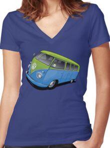 Volkswagen Camper Women's Fitted V-Neck T-Shirt