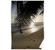 Sunset on the beach - Cocos (Keeling) Islands Poster