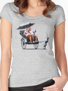 Banksy - Rickshaw Women's Fitted Scoop T-Shirt