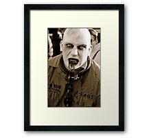 Convict Zombie. Framed Print