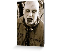 Convict Zombie. Greeting Card