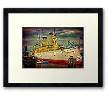 The Cruiser Olympia Framed Print