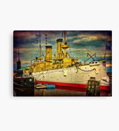 The Cruiser Olympia Canvas Print