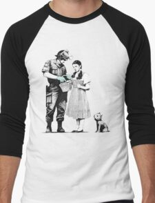 "Banksy ""Stop and Search"" Men's Baseball ¾ T-Shirt"
