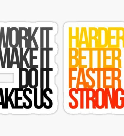 Daft Punk - Harder Better Faster Stronger Sticker