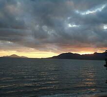 Glowing sunrise by cathywillett