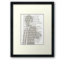 EZEKIEL 25 . 17 Framed Print