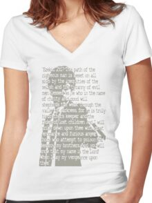EZEKIEL 25 . 17 Women's Fitted V-Neck T-Shirt