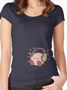 Kirby Sound Test Headphones Women's Fitted Scoop T-Shirt