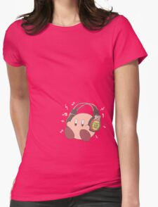 Kirby Sound Test Headphones Womens Fitted T-Shirt