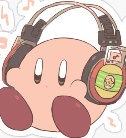Kirby Sound Test Headphones Sticker