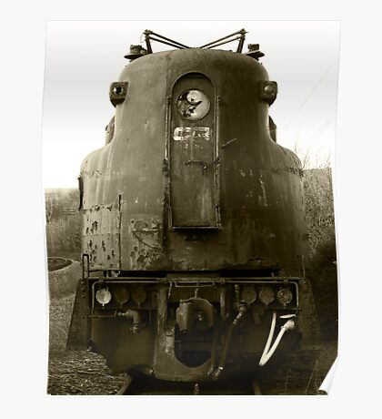 Old Locomotive Poster