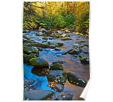 Cool Colors, Smoky Mountain Creek Poster