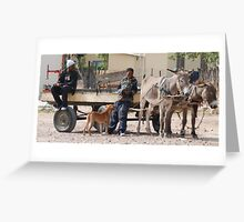 Tailored transport Greeting Card
