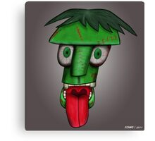 Green Goof Canvas Print