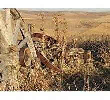 Resting Wagon Photographic Print