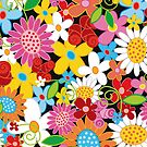 Colorful Spring Flowers Garden by fatfatin