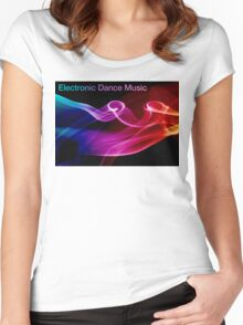 Electronic Dance Music Women's Fitted Scoop T-Shirt