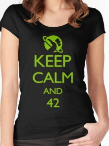 Keep Calm and 42 VECTOR Women's Fitted Scoop T-Shirt