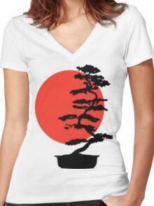 Go Bonsai Now Women's Fitted V-Neck T-Shirt