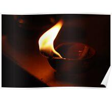 Diwali Diva Lamp Poster