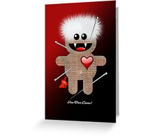 VOODOO LOVE Greeting Card