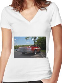 1974 Ford Torino Zebra 3 Replica Women's Fitted V-Neck T-Shirt