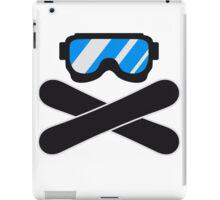 snowboard goggles goggle equipment eyes snowboard pirate flag iPad Case/Skin