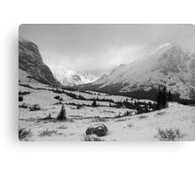 Elbow Pass valley V (b&w) Canvas Print