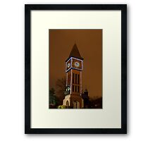 Clock Tower Main Strauss KY Framed Print