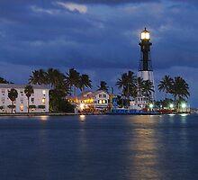 Florida Harbor illuminates the night by ggpalms