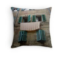 Laundry, Siena, Italy Throw Pillow