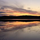 Sunset Over Pond by PaulineHoward