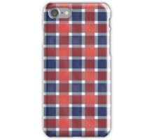 Red White And Blue Checkers iPhone Case/Skin
