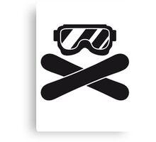 snowboard goggles goggle equipment eyes snowboard pirate flag Canvas Print